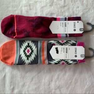 (2) STANCE Girls Light Cushion crew socks